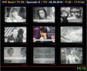 PE7B VHF band I TV Sporadic E Aug 2 2016