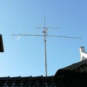 De antenne van PA0O. Winnaar 50MHz contest 2017.
