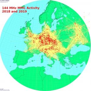 144 MHz MMC Activiteit 2018 en 2019